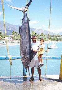 Alfredo with marlin